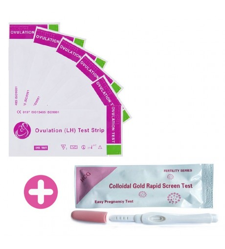 30 Units Pack of Ovulation Test + Pregnancy Pen Test